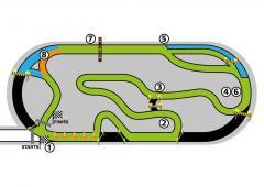 Crocodile Race 2014 sacensību trase